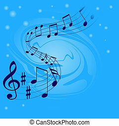 Abstract musical background with place for text
