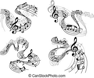 Abstract musical compositions - Abstract musical melody...