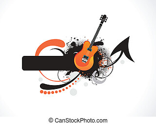 abstract musical guitar background