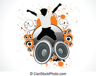 abstract musical jump on speaker