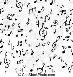 Abstract musical pattern for your design