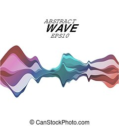 Abstract musical wave background. Vector sound  element
