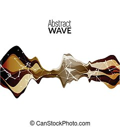Abstract musical wave background. Vector sound wave element