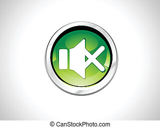 abstract mute button vector