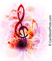 abstract, muziek, achtergrond