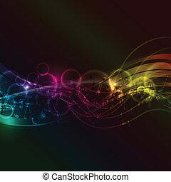 abstract, muzieknota's, achtergrond