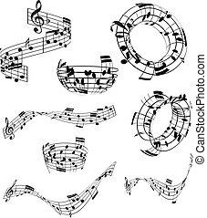 abstract, muzieknota's