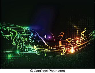 abstract, muzieknota's, ontwerp