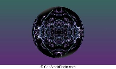 Abstract mystical animation black sphere with a fractal...