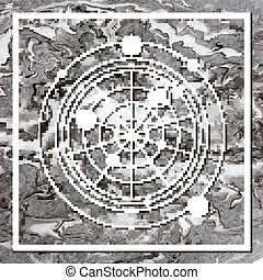 Abstract mystical geometry, linear alchemy, occult,...