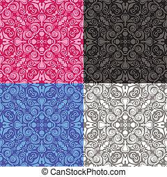 abstract-naadloos-patroon-4-kleuren - naadloos abstract...