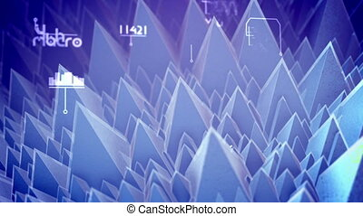 """Abstract nano pyramids moving aside"" - ""Arty 3d rendering..."