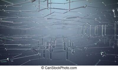 Abstract Nanotech Background, Beautiful seamless looping 3d...