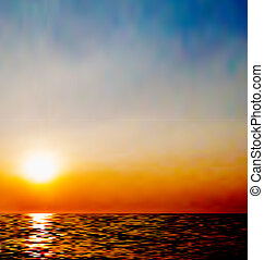 Abstract natural background, sky and sea during sunrise