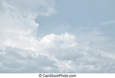 Abstract natural background with clouds. Beautiful sky with clouds in light tonality.
