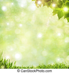 Abstract natural backgrounds with beauty bokeh and lens...