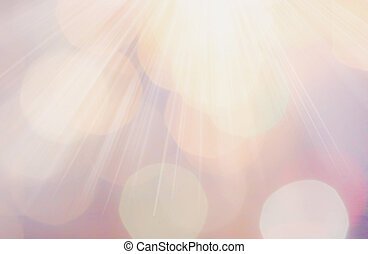 Abstract natural blur de focussed background with ray lights...