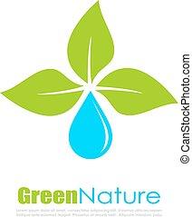 Abstract natural eco logo