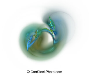 natural fractal - abstract natural fractal background -...