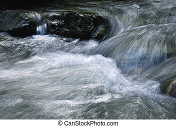 Blurred detail of a mountain stream