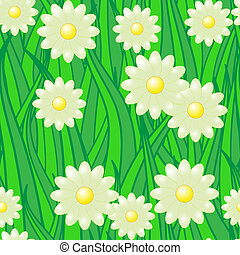 Abstract nature background with flowers