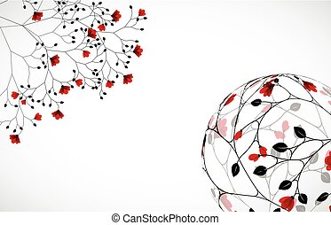 Abstract nature background with flowers.