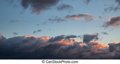 Dramatic cloudscape area
