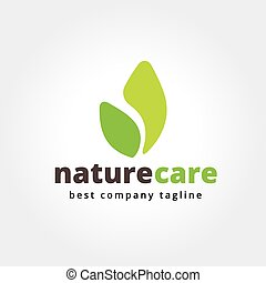 Abstract nature leafs care vector logo icon concept....