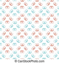 Abstract nature seamless pattern