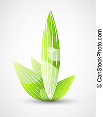 Abstract nature symbols - Vector illustration for your ...