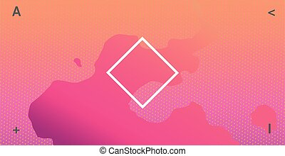 Abstract neon background with rectangle in the middle. Abstract vector illustration, horizontal.
