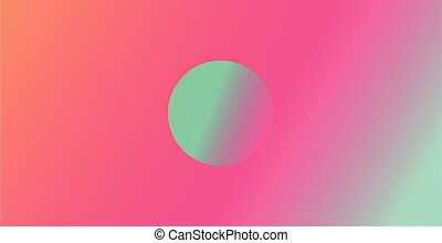 Abstract neon background with round shape in the middle. Abstract vector illustration, horizontal.