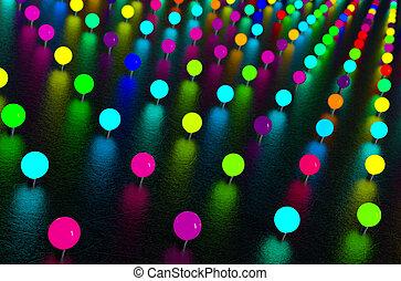 abstract, neon belicht
