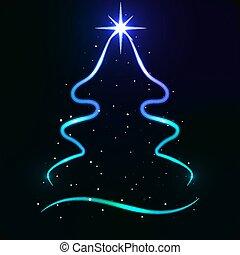 abstract neon christmas tree