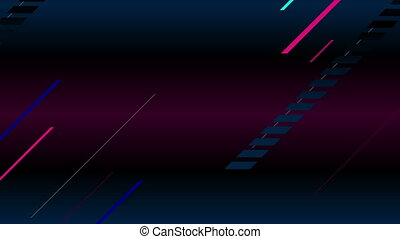 Abstract neon laser lines geometric video animation