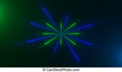 Abstract neon lines, computer generated background, 3D...