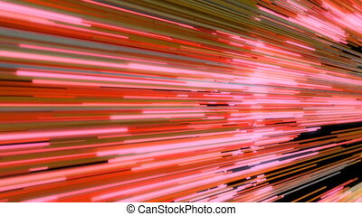 Abstract Neon Tubes. 4K Motion Background. Seamless Loop