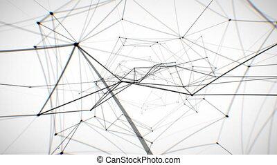 abstract, netwerk, looped, animation.