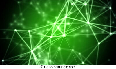 Abstract network background. Seamless Loop.