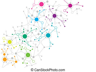 Abstract network design - An abstract network design with...