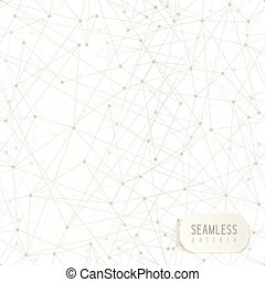 Abstract network seamless background. Triangle geometric pattern, grey color.