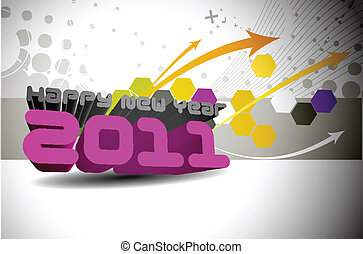 new year 2011 colorful design