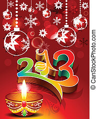 abstract new year background with d