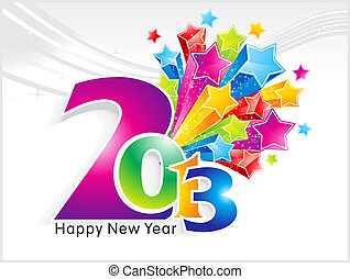 abstract new year background with stars