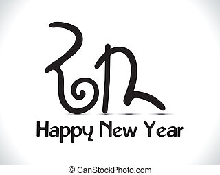 abstract new year text creative