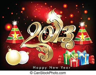 abstract new year wallpapwr with