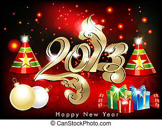abstract new year wallpapwr with cracker vector illustration