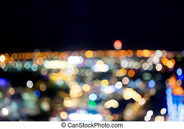 abstract night background with bright colorful bokeh