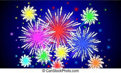 abstract night firework background