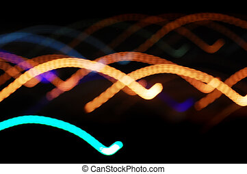 Abstract night lights background.